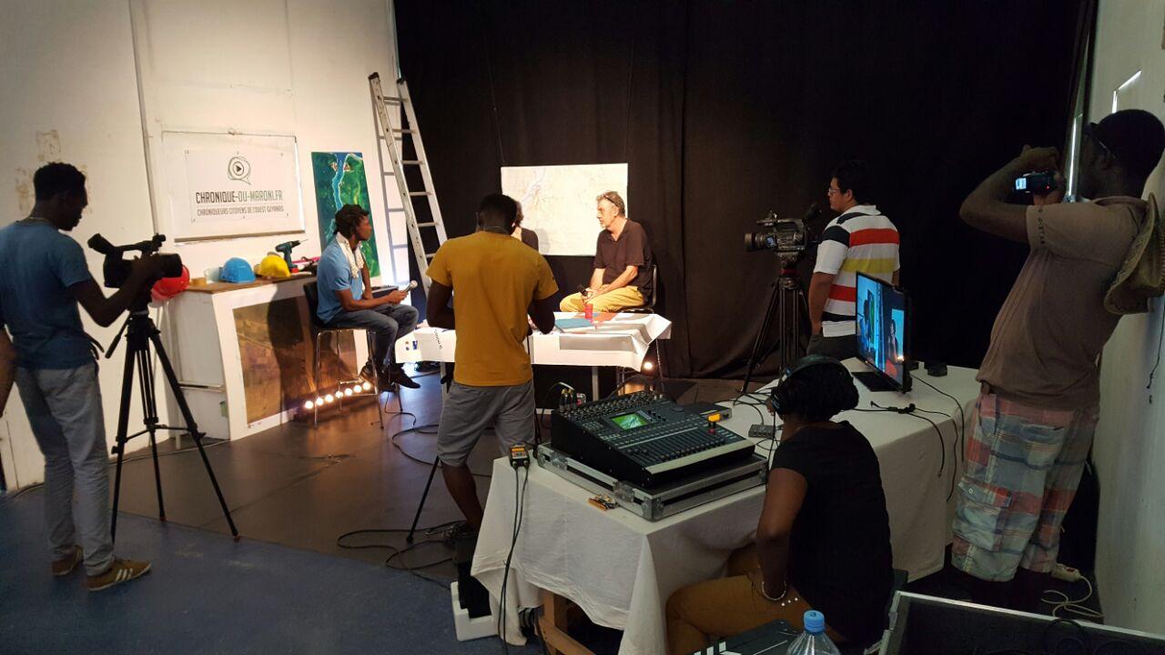 """Enregistrement du pilote """"Le Direct"""" avec les étudiants du Théâtre Ecole Kokolampoe"""