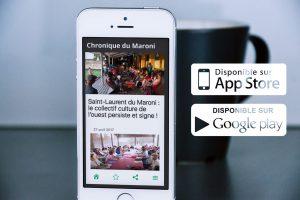 Application mobile Chronique du Maroni
